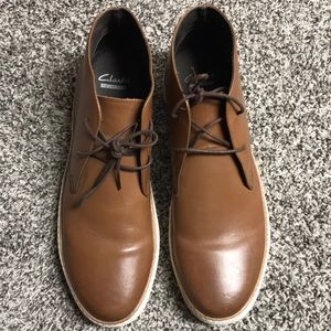 Clark brown leather shoes